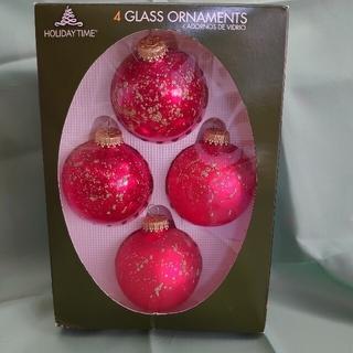 ガラスクリスマスオーナメント