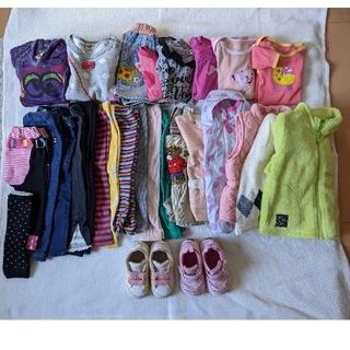 ホットビスケッツ(HOT BISCUITS)のダウンコート、シューズ込 子供服80サイズ 女の子 まとめ売り(ジャケット/コート)