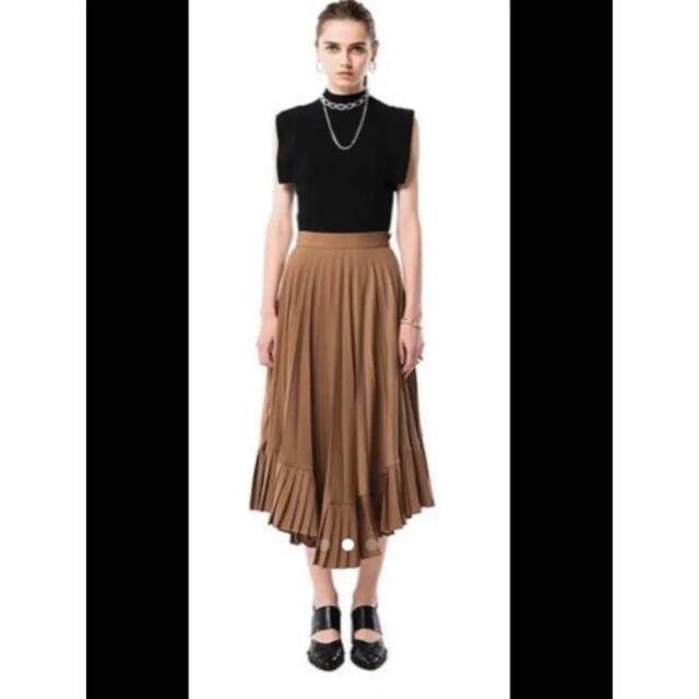 ENFOLD(エンフォルド)のCLANE クラネ clane ダブルレイヤープリーツスカート レディースのスカート(ロングスカート)の商品写真