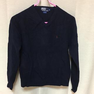 ポロラルフローレン(POLO RALPH LAUREN)のpolo  ラルフローレン ニット セーター L  wool 100%  紺色(ニット/セーター)