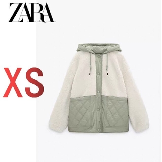 ZARA - 【XS】新品 ZARA キルティングボアジャケット