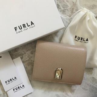 Furla - 新品!フルラ FURLA 二つ折り財布 バレリーナ ベージュ