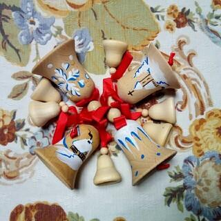 チェコ 木のベルセット クリスマスオーナメント(キャラクターグッズ)