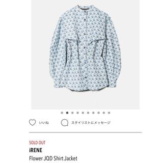 LE CIEL BLEU - IRENE フラワーシャツジャケット