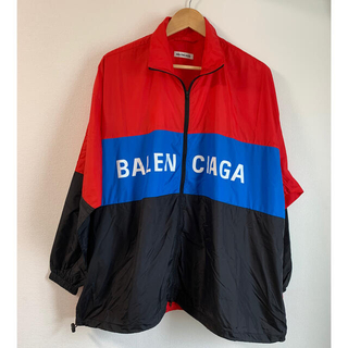 Balenciaga - 【BALENCIAGA】ジップアップロゴ ナイロントラックジャケット 新品未使用