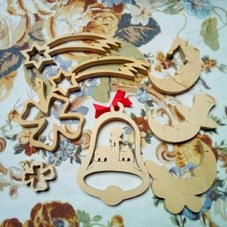 チェコ 木のクリスマスオーナメントセット(キャラクターグッズ)