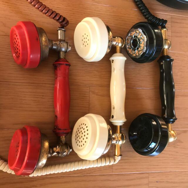 アンティーク 電話機 昭和レトロ インテリア雑貨 ポップ カラフル オブジェ ハンドメイドのインテリア/家具(インテリア雑貨)の商品写真