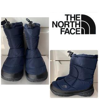 ザノースフェイス(THE NORTH FACE)の美品 ノースフェイス  ヌプシ ブーツ ネイビー(ブーツ)