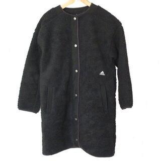 adidas - 新品L★アディダス黒ボアロングジャケット定価10989円