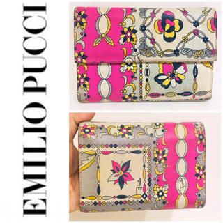 EMILIO PUCCI - 大丸購入■入手困難■本革■ エミリオプッチ EMILIO PUCCI 折り財布