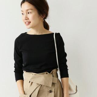 IENA - オーラリー イエナ別注 ボートネックTシャツ/カットソー ブラック