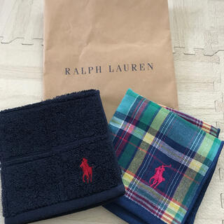 Ralph Lauren - 『ラルフローレン』 ハンカチ2枚セット