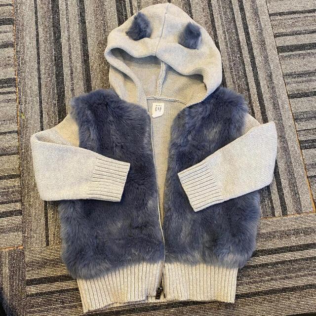 babyGAP(ベビーギャップ)のギャップ クマ耳ボアパーカー キッズ/ベビー/マタニティのベビー服(~85cm)(ジャケット/コート)の商品写真