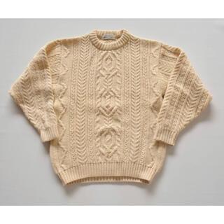 ロキエ(Lochie)の♡英国製ざっくり編みニットセーター♡アランニット フィッシャーマンニット(ニット/セーター)