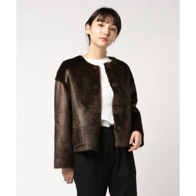 ANAYI(アナイ)のANAYI ¥49,500 エコミンクファーリバーシブルジャケットコート レディースのジャケット/アウター(毛皮/ファーコート)の商品写真