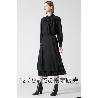 ADORE - ADORE スーパーライトジョーゼットスカート36黒