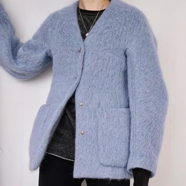 jonnlynx(ジョンリンクス)のFUMIKA_UCHIDA★MOHAIR SHAGGY JACKET COAT レディースのジャケット/アウター(ノーカラージャケット)の商品写真