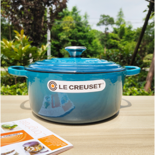 Le Creuset 24cmエナメル鍋 青 ルクルーゼ