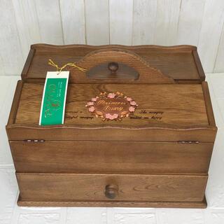 ヴィンテージ Gwood ソーイングボックス 木製裁縫箱 木箱 薔薇 インテリア