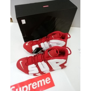 24cm SUPREME × NIKE Air More Uptempo(スニーカー)