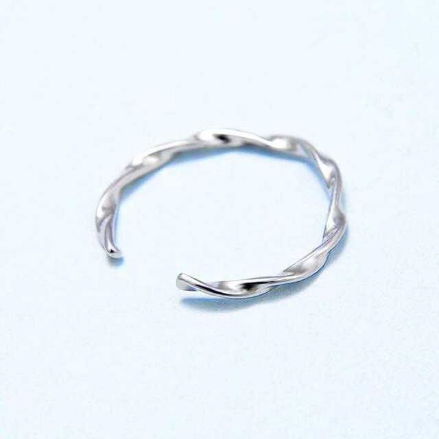 ツイストリング silver925 指輪 オープン メンズ レディース 男女兼用 メンズのアクセサリー(リング(指輪))の商品写真