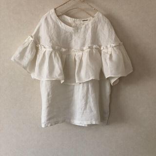 ツムグ(tumugu)のツムグ tumugu  白 半袖(シャツ/ブラウス(半袖/袖なし))