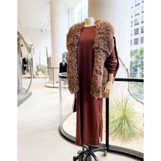 L'Appartement DEUXIEME CLASSE - L'Appartement  2020AW最新作 Knit Dress ボルドー