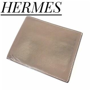 エルメス(Hermes)の《HERMES》エルメスシチズンツイルコンパクト二つ折り札入れエタン(折り財布)