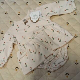 futafuta - futafuta  フタフタ チューリップ 80 ロンパース 女の子