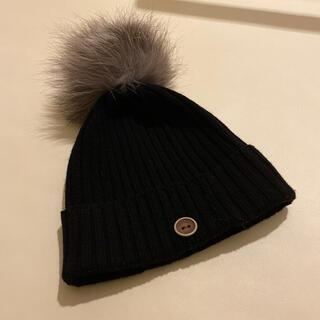 CATARZI 1910 ニット帽 BLACK  イタリア製 カシミヤ100%(その他)