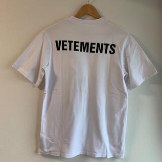 【VETEMENTS】18SS スタッフロゴTシャツ オーバーサイズ ホワイト