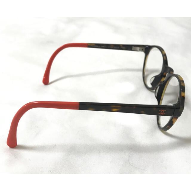 CHANEL(シャネル)の美品 CHANEL レア物 メガネ ココマーク 伊達眼鏡 鼈甲風 シャネル レディースのファッション小物(サングラス/メガネ)の商品写真