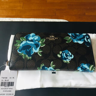 COACH - コーチ F39189 長財布 シグネチャー フローラルプリント花柄アコーディオン