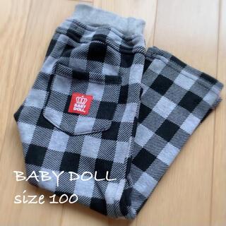 ベビードール(BABYDOLL)のBABY DOLL♡size100 チェック柄 ストレッチパンツ(パンツ/スパッツ)