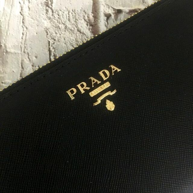 PRADA(プラダ)のプラダ センタージッパー 長財布 ネロブラック レディースのファッション小物(財布)の商品写真