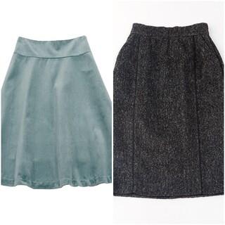 スタイルデリ(STYLE DELI)のベロアフレアースカート M(ひざ丈スカート)