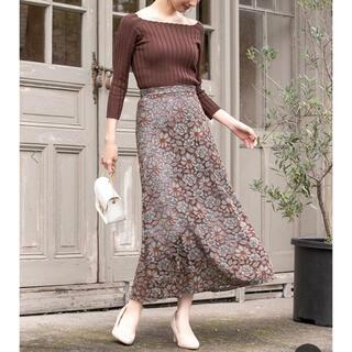 フィフス(fifth)のfifth レトロフラワー スカート 美品(ロングスカート)