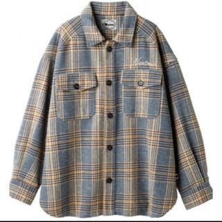 トリプルエー(AAA)のNissy Naptime チェックシャツ Blue(シャツ)