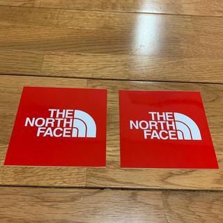 ザノースフェイス(THE NORTH FACE)のノースフェイス ステッカー2枚セット 未使用新品(ステッカー)