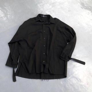 HARE - 韓国 ロング袖ベルトシャツ