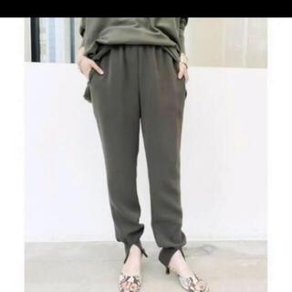 アパルトモンドゥーズィエムクラス(L'Appartement DEUXIEME CLASSE)の新品タグ付き Col Pierrot  コル ピエロ Rib pants 38(カジュアルパンツ)