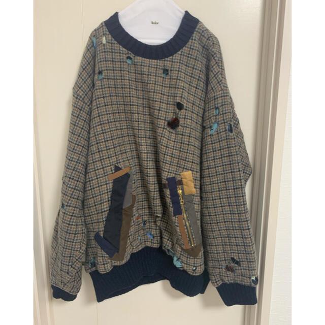 kolor(カラー)のkolor 19aw ハウンドトゥースニット メンズのトップス(ニット/セーター)の商品写真