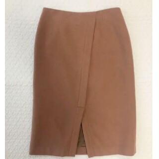 IENA SLOBE - SLOBE IENA☆前のスリットウールタイトスカート