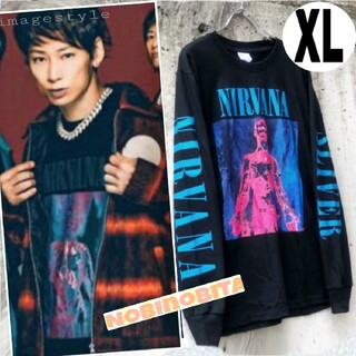 XLロンT◆UVERworld takuya∞ style スリバー ロックT(Tシャツ/カットソー(七分/長袖))