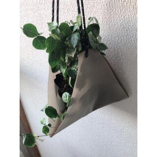 観葉植物 植木鉢カバー ナイロン製カーキベージュ(プランター)