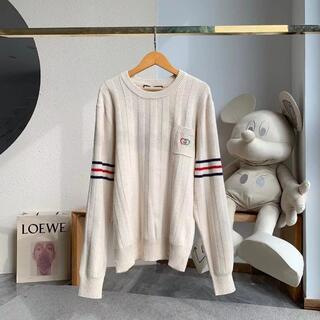 Gucci - GUCCI◆インターロッキングG コットンニット セーター