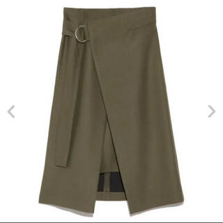 FRAY I.D - 【美品】 FRAY I.D ラップスカート 膝丈ボックススカート