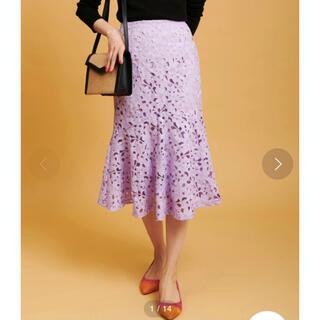ザヴァージニア(The Virgnia)のThe Virginia カラーレースタイトスカート 新品タグ付き(ロングスカート)