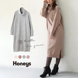 HONEYS - オフタートルワンピース