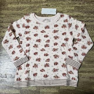 ビケット(Biquette)のタグ付き未使用品✨ビケット 長袖トップス 花柄ボーダー(Tシャツ/カットソー)